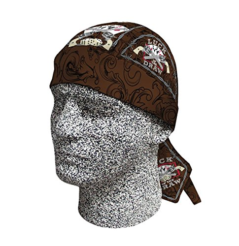 Capsmith Deluxe Luck of the Draw Dice Cards Brown Barbed Wire Headwrap Durag Doo Rag Headwrap