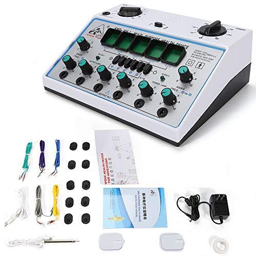 Acupuncture Stimulator, Electric Acupuncture Stimulator Machine Massager Care 6 Output Patch 500-1000hpa (US Stock) ()