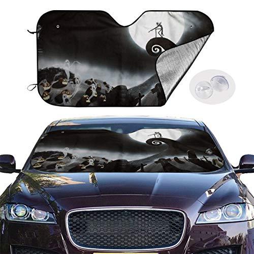 The Nightmare Before Christmas Universal Windshield Sunshade 27.5x51 Inch Car Sun Visor Seat Sunscreen