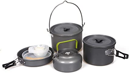 Camping Cookware Chaos Kit, cocina portátil para mochila al ...