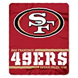 Northwest 1NFL031040013RET NFL San Francisco 49ers 50×60 Fleece Split Wide DesignBlanket, Team Colors