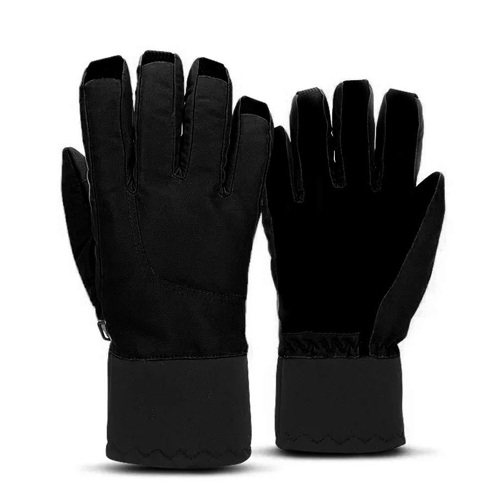 Guantes De Pantalla Táctil para Hombre con Dedos Completos, Guantes Calientes De Ciclismo De Invierno, Calientes a Prueba del Viento Guantes para el Clima Frío de Pantalla Táctil con Diseño Antideslizante Lutateo