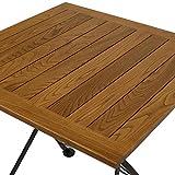 Sunnydaze European Chestnut Wood Folding Square