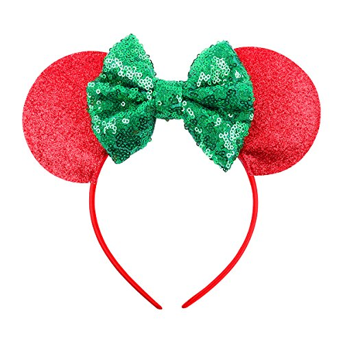 Mickey Mouse Ears Headband (Red Green)