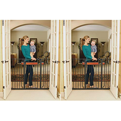 Regalo Home Accents Extra Tall Walk Thru Gate, Hardwood and