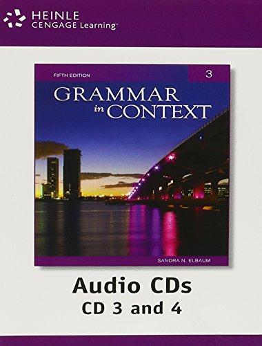 Grammar in Context 3 Audio CDs, 5th Edition