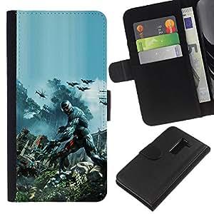 Juego Crys1s - la tarjeta de Crédito Slots PU Funda de cuero Monedero caso cubierta de piel Para LG G2 D800