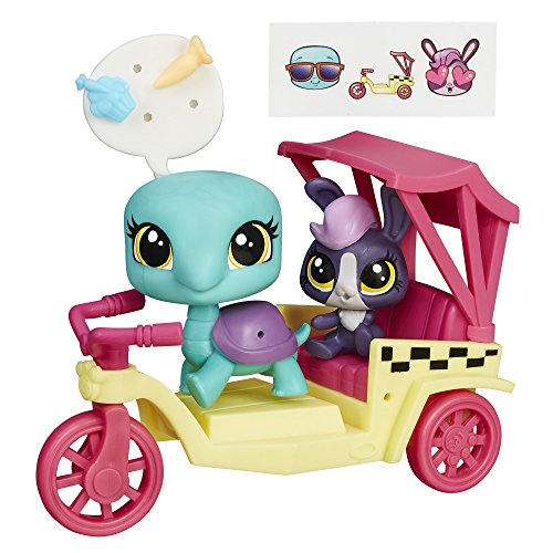 Littlest Pet Shop City Rides Turtle and Bunny Rickshaw - Littlest Pet Shop Sheets