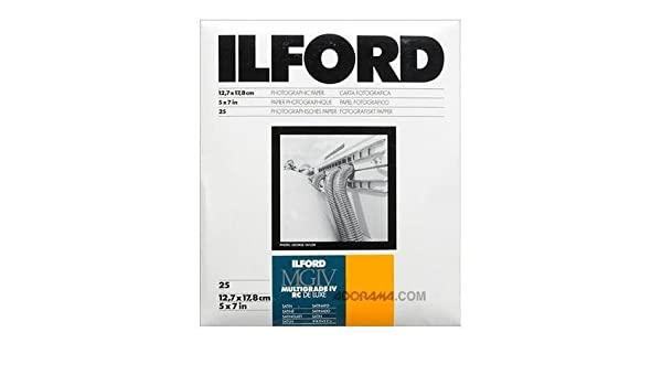 5 x 7 Inches, Pearl, 100 Sheets 1771019 Ilford Multigrade IV RC Deluxe MGD.44M Black and White Variable Contrast Paper