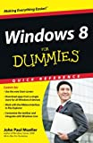 Windows 8 for Dummies Quick Reference, Greg Harvey and John Paul Mueller, 1118132432