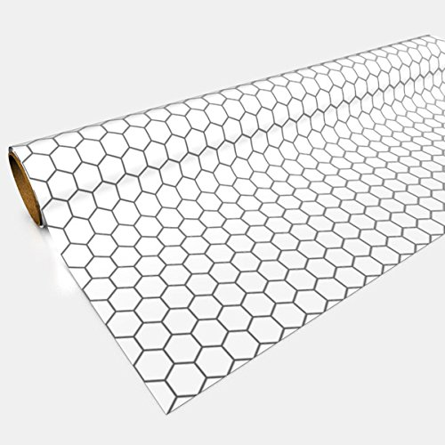 White Gaming Paper 1in Hexes 30in x 12ft 1 ()