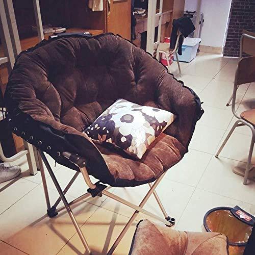 Barstolar Xiuyun hopfällbar stol lat enkel soffa stol student sovsal datorstol hem sovrum modern minimalistisk balkong ryggstöd svängbar stol (färg: Stil 8)
