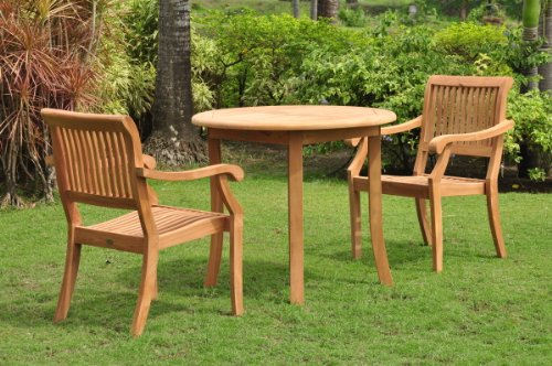 Grade-A Teak Wood 2 Seater 3 Pc Dining Set: 36