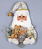 CHRISTMAS DECORATIONS - VINTAGE SANTA WITH GIFTS WALL ART - FRONT DOOR DECORATION