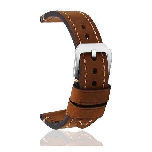 88 opinioni per omyzam Cinturino Vintage per Orologio Vero Cuoio Ricambio con Piccola Fibbia