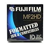 Fuji Film MF2HD High Density 3.5 Inch Floppy Disks FORMATED IBM & COMPATIBLES - 10 Pack