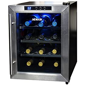 NewAir AW-121E 12-Bottle Thermoelectric Wine Coole...
