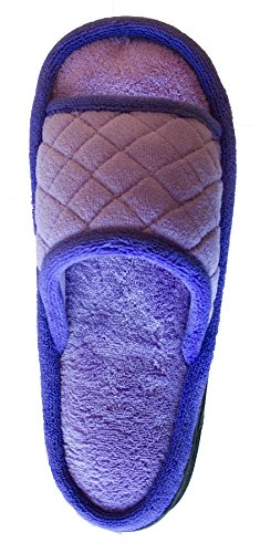 Isotoner Womens Fleece Maddie Slide Purple Paisley TX3F4