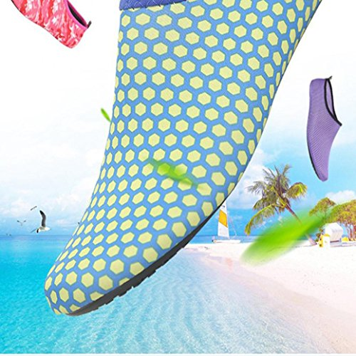 Hommes De Yoga Paire Plage Femmes Surf Chaussures Treadmil Plonge Bleu marine Chaussettes Natation Sport Wyxlink Sous 1 Fonc Snorkeling Unisexe qFWnExf