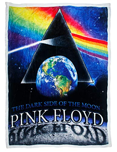 Ramatex Polyester Throw Blankets Pink Floyd Dark Side of The Moon Plush Fleece Sherpa Throw Blanket 60 X 0.25 X 50 Inches Multicolored (Pink Floyd Blanket)