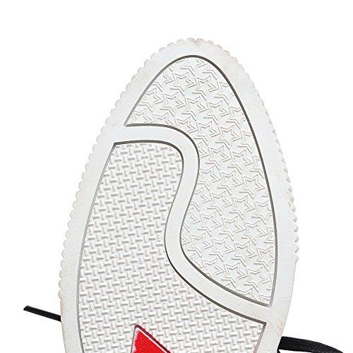 Scarpe Da Donna Tacco Basso Assortiti Allacciati Tacchi Bassi Color Antracite