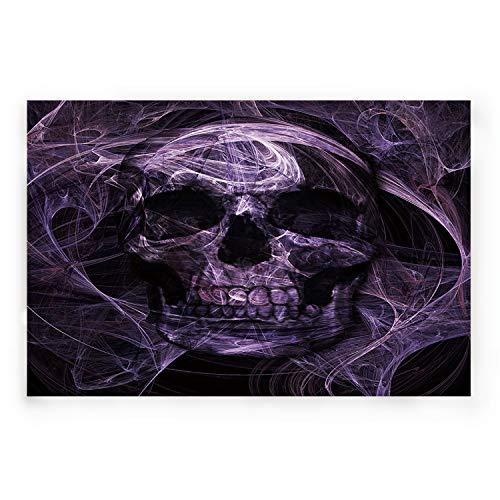 BABE MAPS Indoor Doormat Entrance Welcome Mat Absorbent Kitchen Rug Non Slip Shower Mat Funny Abstract Mystic Purple Skull Home Decor for Inside Shoe Scraper Floor Carpet 30