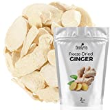 Ginger - Freeze Dried Fruits Snacks Chunks - Non-GMO - Gluten-Free - No Sugar Added - 100% Natural and Organically Processes - Tealyra