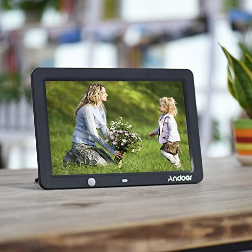 Andoer Digital Picture Photo Frame 12 inch 1280 x 800 picture screen with Human Motion Motion Sensor Induction Detection with Remote Control and CR2025 Controller Battery by Andoer