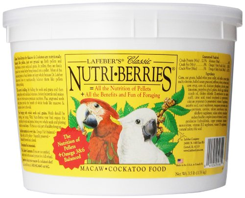 Nutri Meals (Lafeber's Classic Nutri-Berries for Macaw / Cockatoo 3.5 lb. Tub)