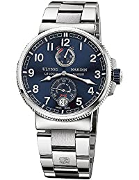 Marine Chronometer Blue Dial Stainless Steel Mens Watch 1183-126-7M-43