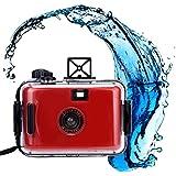 Hometom Waterproof Mini 35mm Film Camera Purple Underwater Cameras