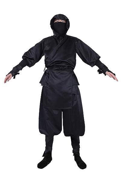 Amazon.com: DIFFERONE Adults Mens Japanese Black Ninja Suit ...