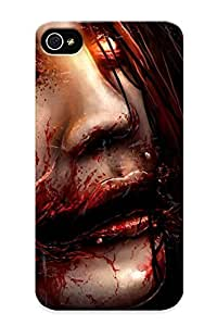 Fashion Protective Chelsea Grin Face Creepy Drawing Heavy Metal Hard Rock Dark Blood Horror Macabre Demon Eyes Case Cover Design For Iphone 4/4s