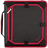 Five Star 2 Inch Zipper Binder, Expansion Panel, Durable, Red/Black/Gray (29052BE7)