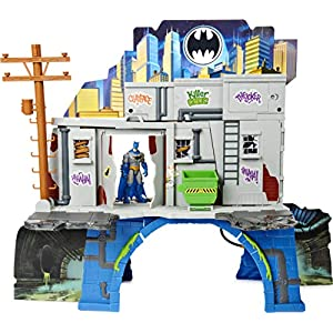Best Epic Trends 513mCb%2BrN6L._SS300_ DC Comics Batman 3-in-1 Batcave Playset with Exclusive 4-inch Batman Action Figure and Battle Armor