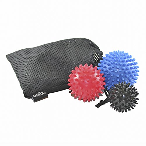 3 PORCUPINES, Spiky Massage Ball Therapy – 3 Pack Ideal for Muscle Recovery and Trigger Point Release – DiZiSports Store