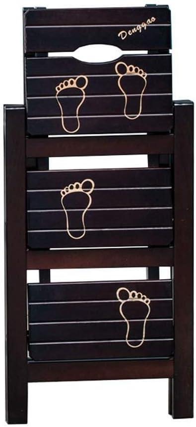 Llslls Escalera Plegable Plegable de 3 peldaños, Taburete Plegable de Madera for Adultos Cocina for niños Escaleras pequeñas Taburetes for pies Banco de Zapatos portátil de Interior/Estante de Flore: Amazon.es: Hogar
