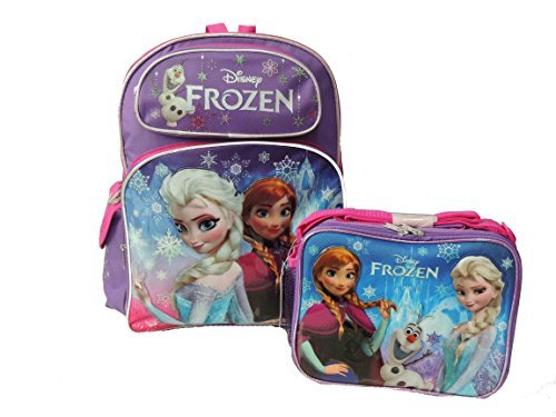 Disney Frozen Elsa, Anna & Olaf Large 16″ Backpack with Frozen Lunch Box Review