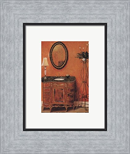 Coventry Wall Small (Coventry Bath II by Juliette Marcus Framed Art Print Wall Picture, Flat Silver Frame, 10 x 12 inches)