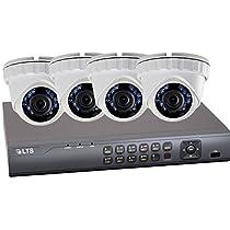 LTD8304T-FT-1.3-COMBOP 4 Channel HD-TVI DVR - Compact Case with HD-TVI Turret 1.3MP Cameras