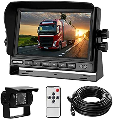 Rear View Camera System >> Backup Camera System Kit 7 Lcd Reversing Monitor 170 Wide Angle 18 Ir Night Vision Ip68 Waterproof Rear View Back Up Camera For
