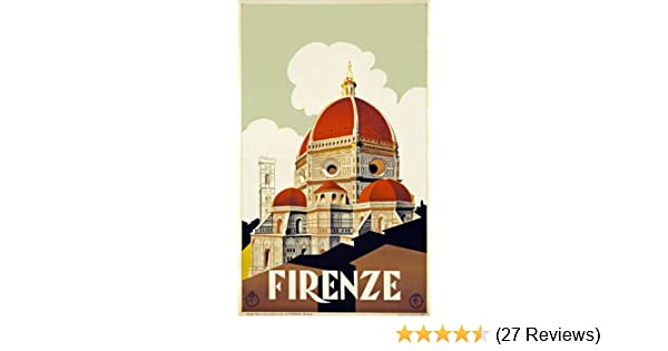 FIRENZE Home Wall Art Print A4,A3,A2,A1 Vintage Travel Poster