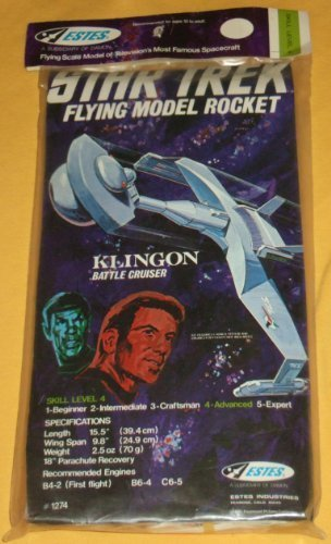 VINTAGE 1975 ESTES STAR TREK KLINGON ''BATTLE CRUISER'' MODEL ROCKET!!