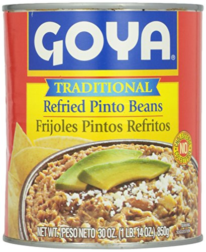 Goya Traditional Pinto Refried Beans, 30 oz by Goya