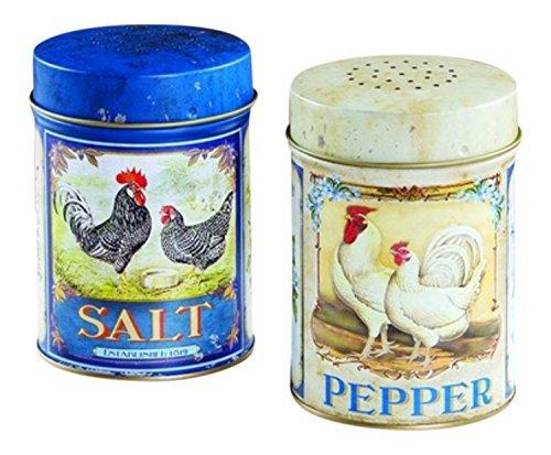 (FRENCH ROOSTER SALT AND PEPPER SET - FOOD SAFE)