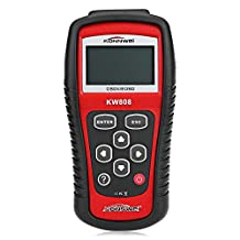 KONNWEI Car Scanner Diagnostic Tool - EOBD/OBD2/OBDII Automotive Diagnostic Scan Tool for 1996 or later OBDII US, European and Asian Vehicles (KW808)