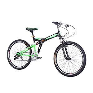 Lixada Folding Carbon Steel Bike Portable Bicycle Fold Storage, 7 Speed