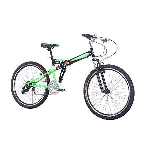 Lixada Folding Carbon Steel Bike Portable Bicycle Fold Storage, 7 Speed
