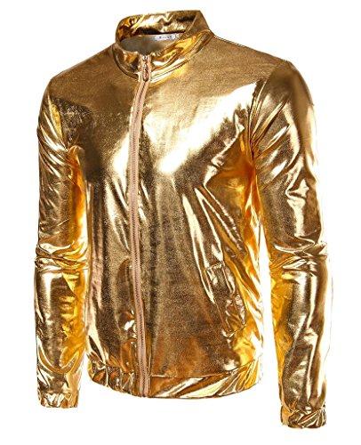 CIC Collection Metallic Front Zip Jacket