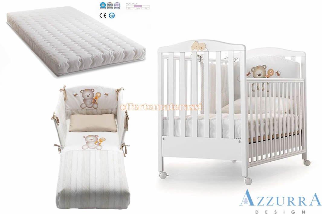 Lettino Azzurra Design Web Bianco bimbi infanzia (Lettino web bianco con decoro) EFFETTO CASA